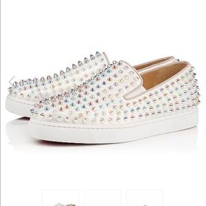 Authentic💯 Louboutin Roller Boat Flat